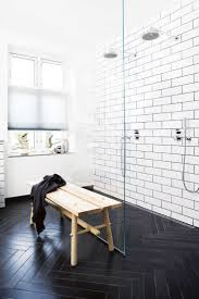 black and white bathroom tile home design ideas
