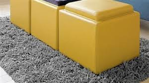 Leather Storage Ottoman Yellow Leather Storage Ottoman Home Furnishings