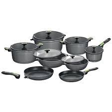 batterie de cuisine en stoneline stoneline set 14 pièces en imagination vert gris achat