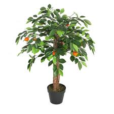 artificial orange tree 90cm with 460 leaves