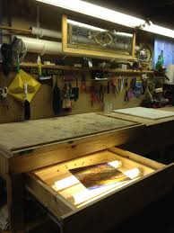 workbench with pegboard and light the glass dungeon stained glass workbench with pegboard tool
