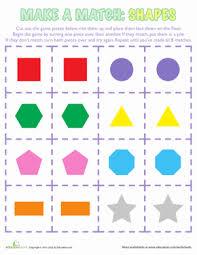 shapes matching game worksheet education com