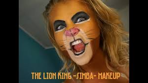 disney the lion king simba how to makeup tutorial youtube