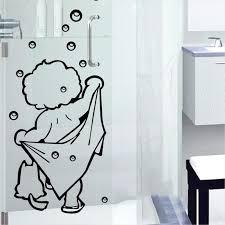 Bathroom Door Stickers I Love Shower Wall Stickers Bathroom Glass Window Bublle Love