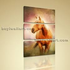 Horse Home Decor by Vertical Painting Print Horse Wall Art On Canvas Living Room Home