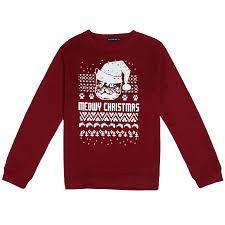 meowy christmas christmas sweatshirt