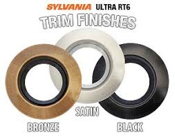 can light trim kits new sylvania ultra rt4 ultra rt6 led recessed lighting trims