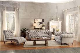 Tufted Rolled Arm Sofa 3pc Traditional Brown Almond Fabric Sofa Living Room Set Tuft Roll Arm