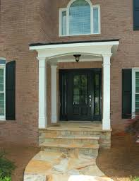 House Porch by Small Flat Roof Over Entry Google Search Brick Houses