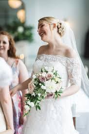david u0027s bridal jewel off the shoulder 3 4 sleeve wedding dress st