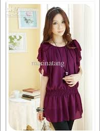 elastic waist blouse 2018 summer s tops blouses chiffon elastic waist top quality