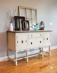 Buffet With Hutch Furniture Sideboard Buffet Hutch Chalk Paint Makeover