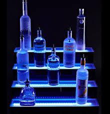 led lighted bar shelves 4 tier 60 led bar shelves lighted bar shelf liquor bottle display