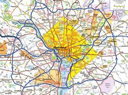 washington dc region map large detailed roads and highways map of washington d c area