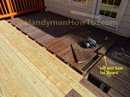 Laminate Flooring Saw How To Replace Wood Deck Boards