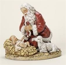 santa kneeling at the manger the story of the kneeling santa