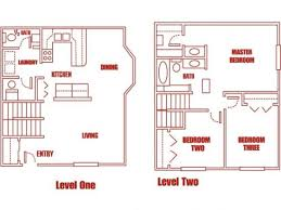 One Bedroom Townhouse Highland Pointe Apartments Salt Lake City Utah Floor Plan