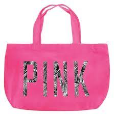 pink victoria u0027s secret palm tree tropical beach pink tote bag