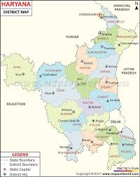 India Map Blank With States by Haryana Map Districts In Haryana