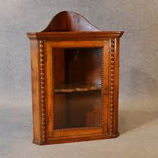Antique Corner Cabinets Antique Corner Display Cabinet English Victorian Fruitwood Wall