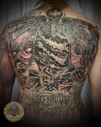 tattoo back face demon face back piece tattoo design tattooshunt com