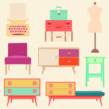 Free Living Room Furniture Retro Living Room Cliparts And Printables Vintage Living