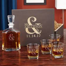 wedding gift argos marriage whiskey decanter set with wooden keepsake box