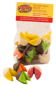 where can you buy fortune cookies fruit cocktail mixed bag of 15 chocolate dipped cookies lemon