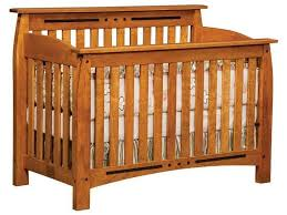 Solid Back Panel Convertible Cribs Linbergh Convertible Crib Linbergh Solid Wood Mission Crib