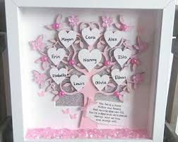 mothers day gift for nanny personalised our family family tree frame