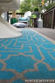 Inexpensive Outdoor Rugs Transform A Plain Inexpensive Outdoor Rug Into A Custom Diy