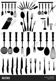 silhouettes kitchen accessories vector u0026 photo bigstock