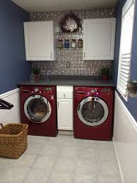 Washer And Dryer Cabinet Best 25 Red Laundry Rooms Ideas On Pinterest Basement Laundry