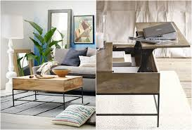 west elm industrial storage coffee table rustic side table west elm coma frique studio 19f648d1776b