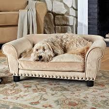 enchanted home pet dreamcatcher sofa dog bed in cream petco