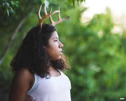 fawn headband photography prop large antlers 3d printed horns on a headband