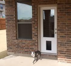 patio door with dog door built in barn and patio doors