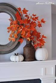 Decorating With Fall Leaves - you can enjoy the fall colors anytime with a display of these
