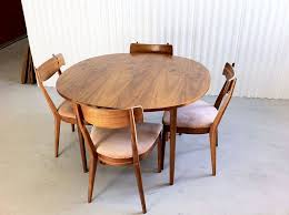 plain decoration mid century round dining table smartness ideas