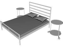 Heimdal Bed Frame Heimdal Ikea Bed Ikea Heimdal Bed And Sidetable 3d Model 3d Cad