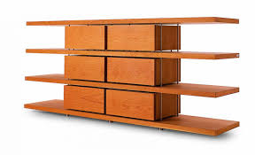 Bookshelves Wooden Modular Shelf Contemporary Solid Wood Stainless Steel