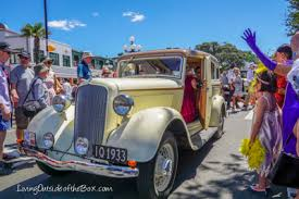 will kids enjoy the art deco car parade in napier new zealand
