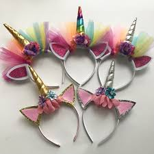 felt headbands 10 pcs glitter unicorn horns headbands for and kids 2017