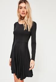 black skater dress black basic skater dress missguided