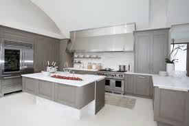 grey kitchen cabinets with black appliances home design ideas