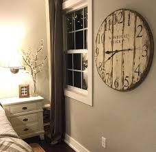 wall clocks farmhouse clock co distressed large round wooden wall clock