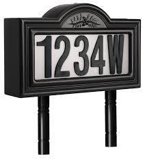 light up address sign pine top 508 0011 plastic solar powered led lighted address sign
