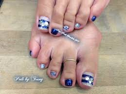 summer blue pedicure nail gallery