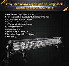 Led Flood Light Bars by 9d Quad Row 44 Inch Philips 2520w Led Work Light Bar Flood Spot