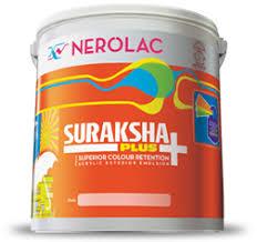 nerolac suraksha plus acrylic emulsion exterior house colors
